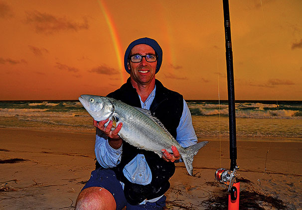 The beaches east of Esperance produce year-round salmon as the author discovered.